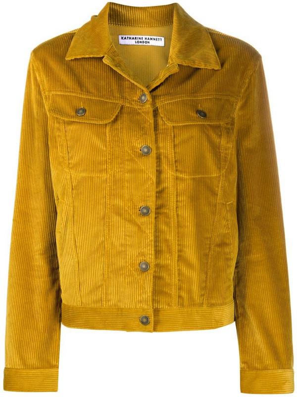 Katharine Hamnett London Keith corduroy-style jacket in yellow