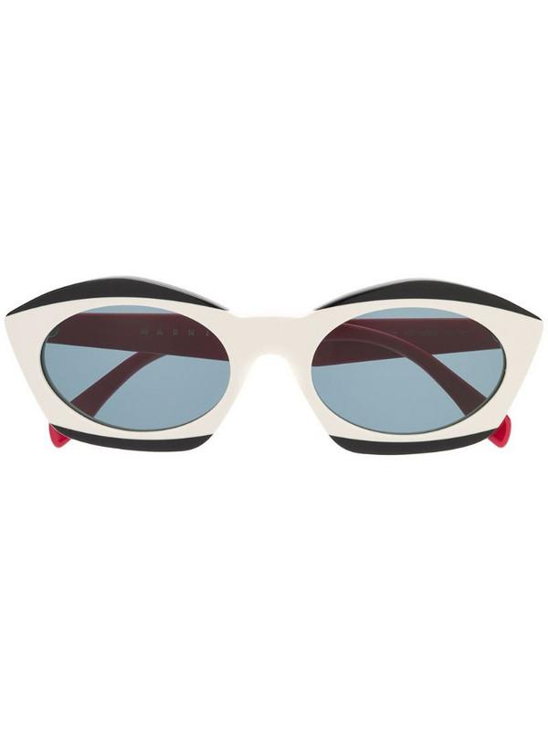 Marni Eyewear cat-eye frame sunglasses in neutrals