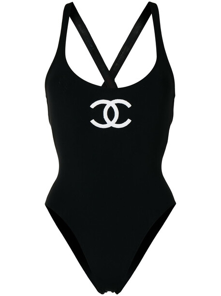 Chanel Pre-Owned 2000s National Flag swimsuit - Black