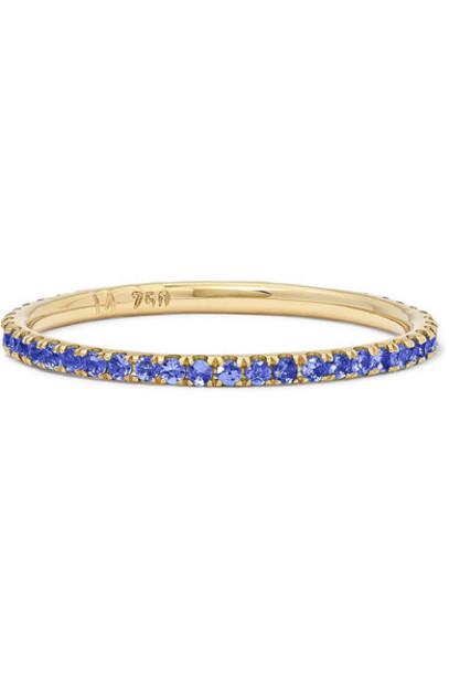 Ileana Makri - Thread 18-karat Gold Sapphire Ring