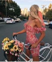 dress,cold shoulder,off the shoulder dress,nude dress,red dress,pink dress,embroidered,summer dress,off the shoulder,ruffle,mini dress,feminine,hippie,summer