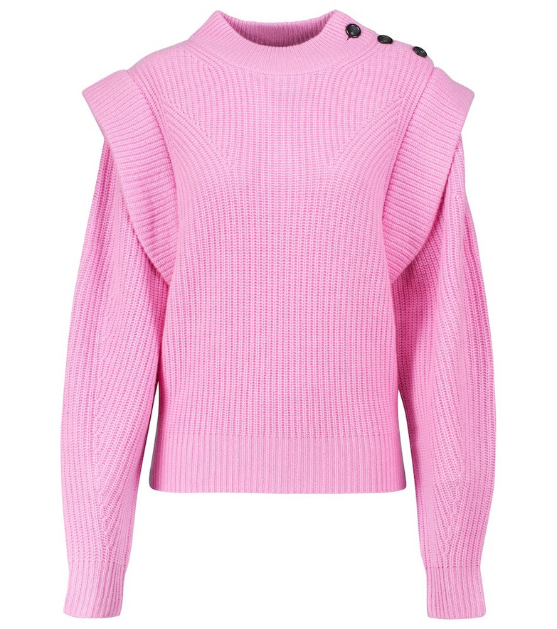 Isabel Marant Peggy wool and cashmere sweater in pink