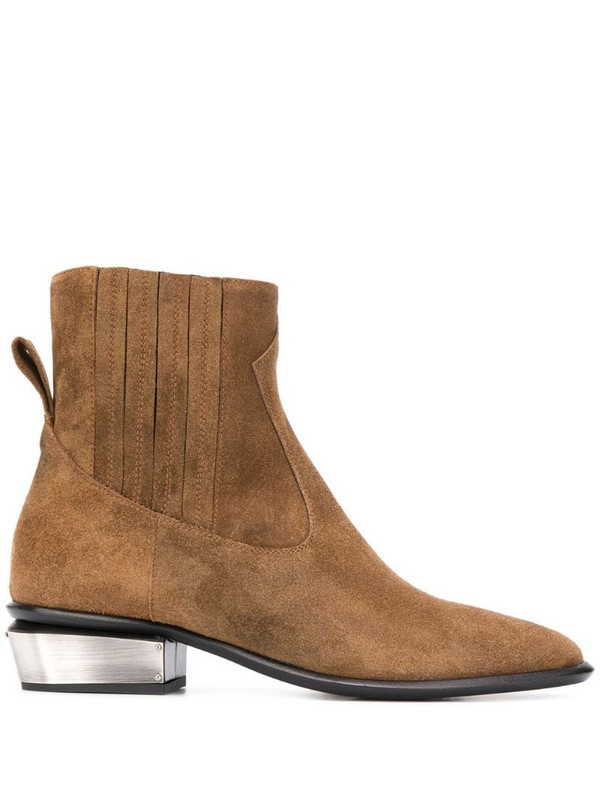 Kate Cate Cowboy suede ankle boots in brown