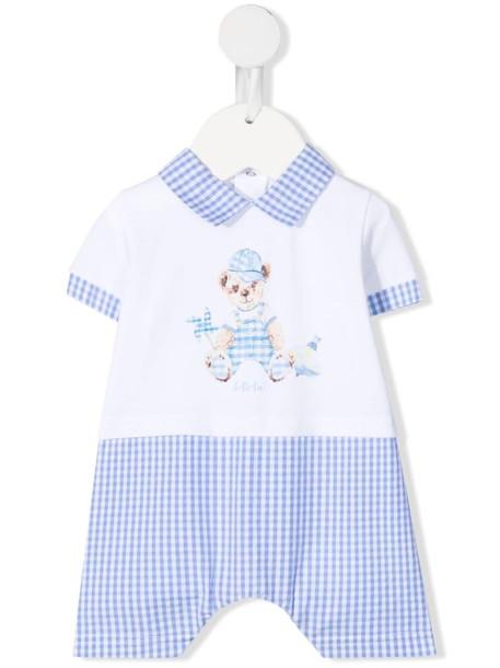 Le Bebé Enfant Teddy bear romper - White