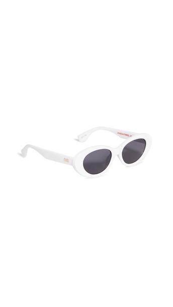 Le Specs Ditch Sunglasses in white