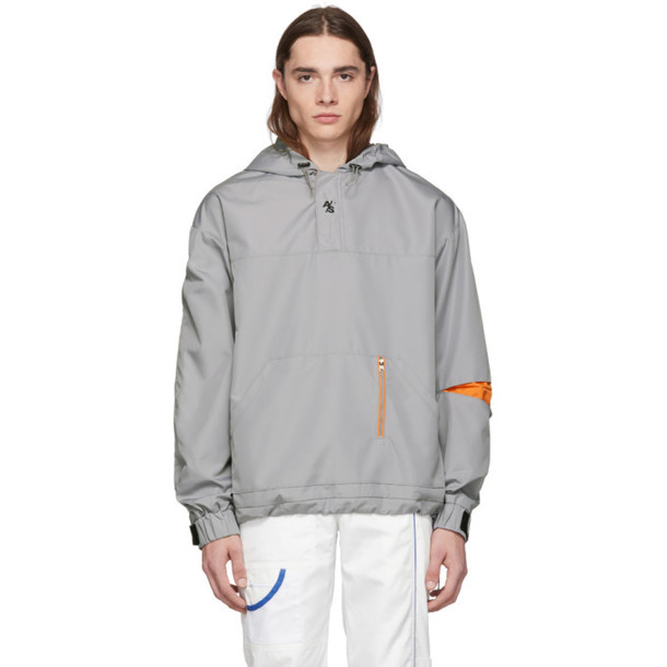 ADER error SSENSE Exclusive Grey ASCC Anorak Jacket