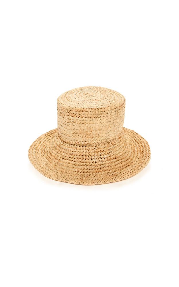 Janessa Leone Manon Raffia Hat in neutral