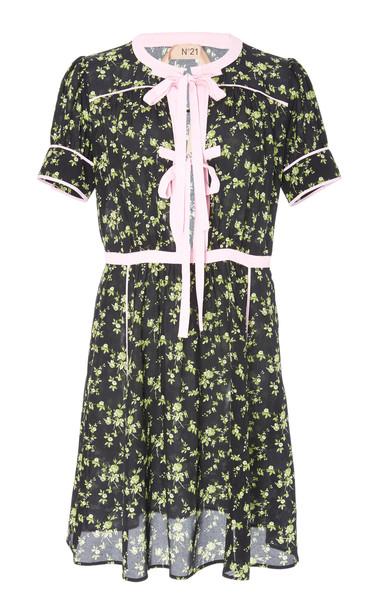 N°21 Annita Printed Tie Detail Dress Size: 44 in print