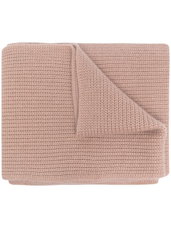 N.Peal chunky-knit cashmere scarf in pink