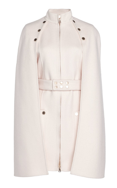 Ralph & Russo Wool Cape Dress in pink