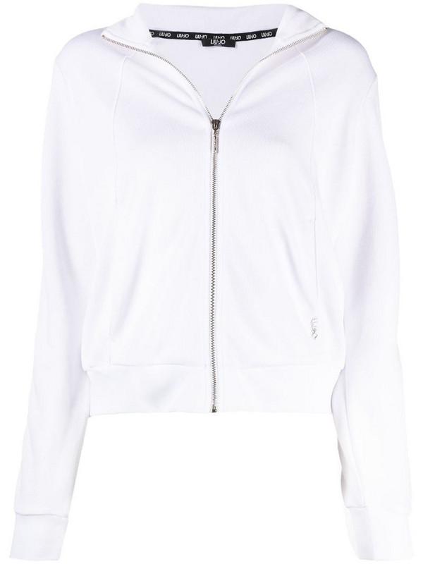 LIU JO side-stripe track jacket in white