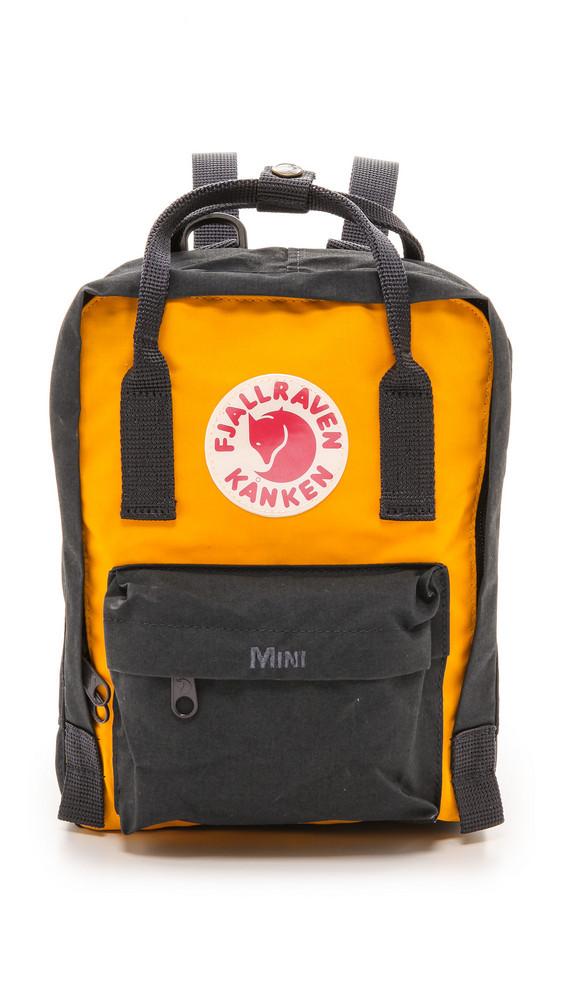 Fjallraven Kanken Mini Backpack in navy / yellow