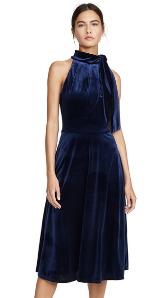 Black Halo Audrey Dress in navy