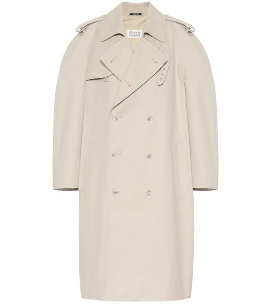 Maison Margiela Cotton-blend coat in beige