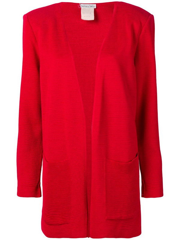 Christian Dior 1980's pre-owned fluid textured jacket in red
