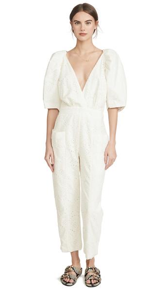 IORANE Laise Puff Jumpsuit in white