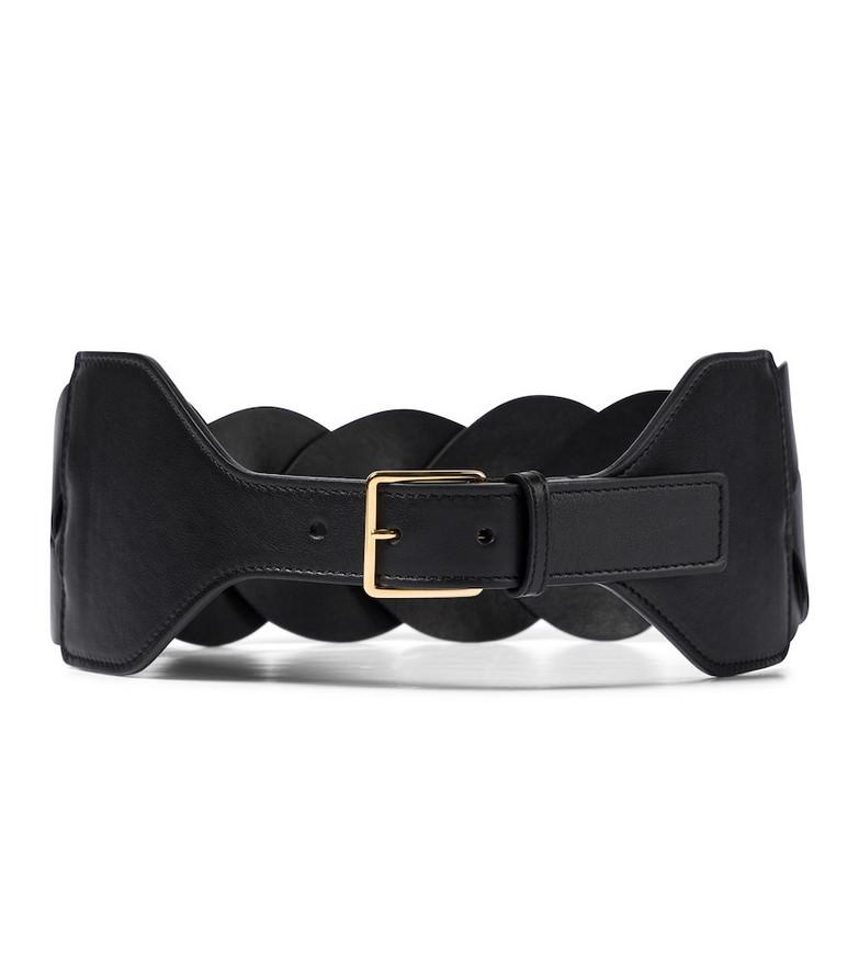 Altuzarra Braided leather belt in black