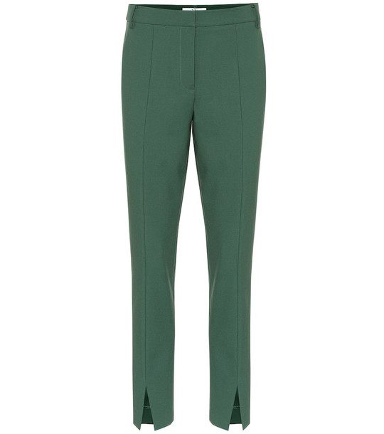 Tibi Anson high-rise pants in green