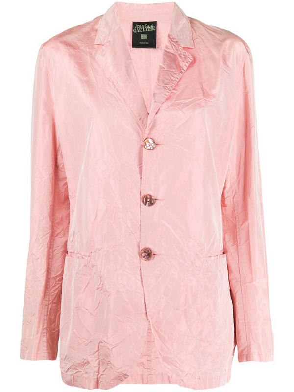 Jean Paul Gaultier Pre-Owned 1990s creased straight-fit jacket in pink