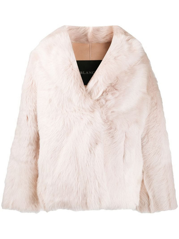 Blancha oversized jacket in pink