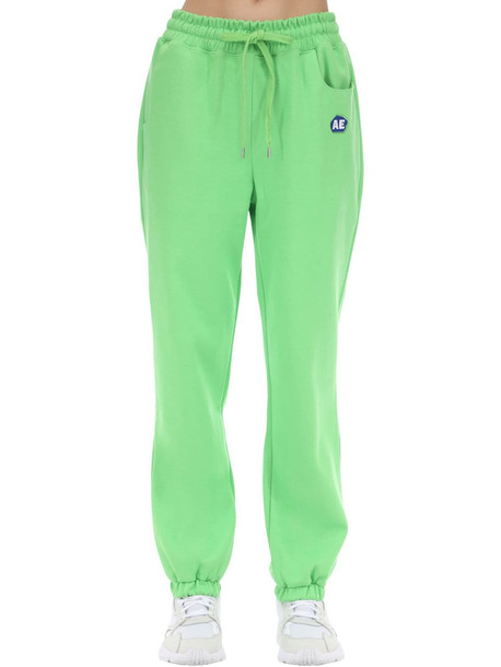 ADER ERROR Cotton Jersey & Tech Sweatpants in green