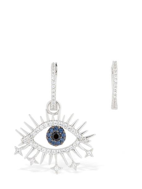 APM MONACO Asymmetric Silver Lucky Eye Earrings