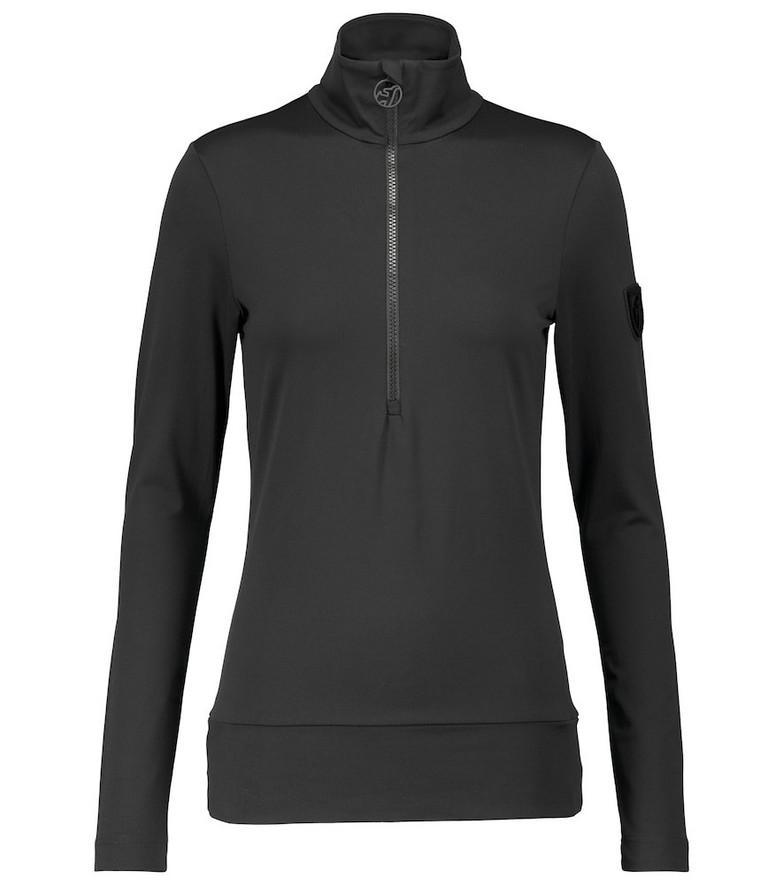 Toni Sailer Wieka mockneck ski top in black
