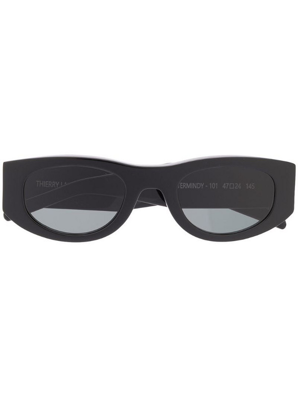 Thierry Lasry Mastermindy oval-frame sunglasses in black