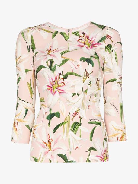 Dolce & Gabbana Lily Print Cadi Top