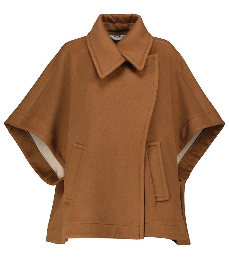 Max Mara Ala cashmere cape in brown