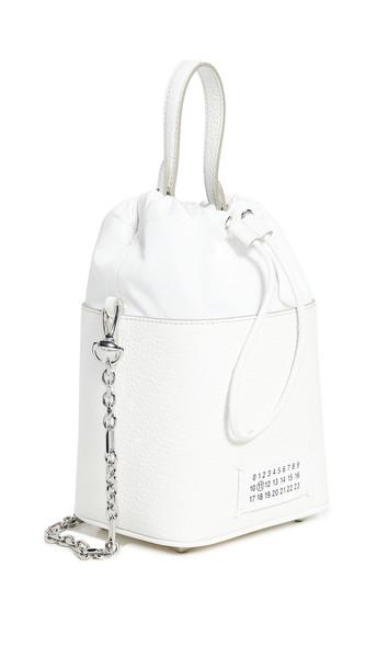 Maison Margiela Crossbody Bucket Bag in white