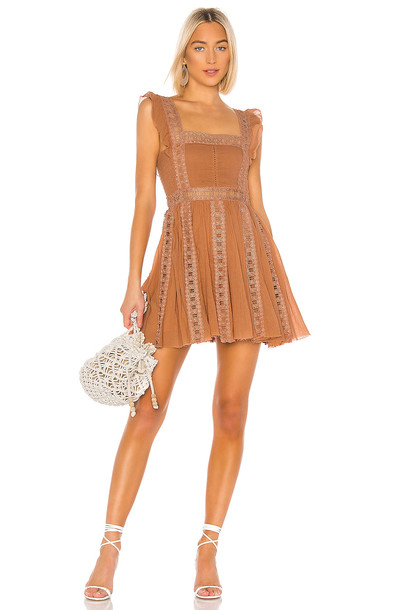 Free People Verona Dress in tan