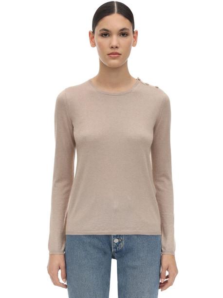 MAX MARA Berma Silk & Cashmere Knit Sweater in camel