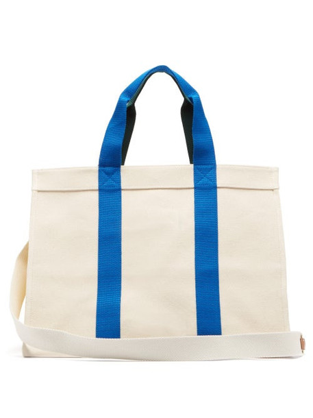 Rue De Verneuil - Lego Canvas Tote Bag - Womens - Blue Multi