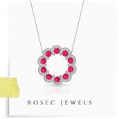 jewels,gold,jewelry,pendant,necklace,women,fashion,stacking,ruby pendant,diamonds,minimalist jewelry,mini open circle pendant