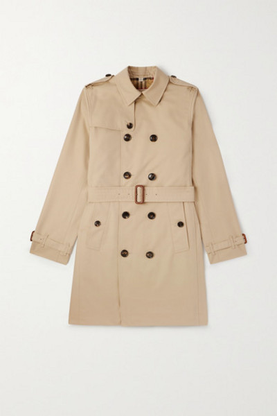 Burberry Kids - Ages 4 - 12 Cotton-gabardine Trench Coat in beige