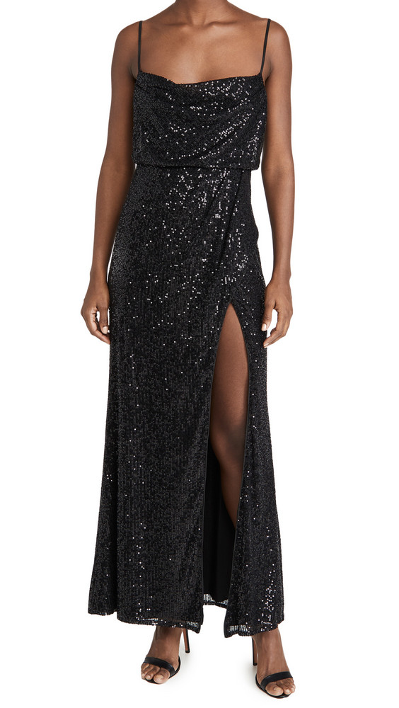 Fame and Partners The Dreida Sequin Dress in black