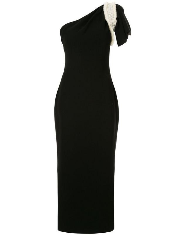 Saiid Kobeisy one-shoulder asymmetric dress in black