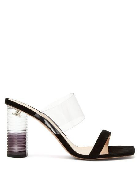 Nicholas Kirkwood - Peggy Perspex Heel Leather Mules - Womens - Black
