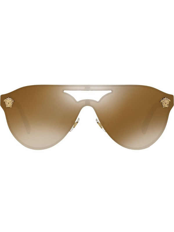 Versace Eyewear aviator frame sunglasses in gold