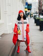 mimi & chichi blog,blogger,dress,coat,shoes,socks,hat,jewels,moschino