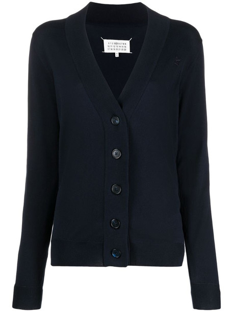 Maison Margiela knitted cardigan in blue