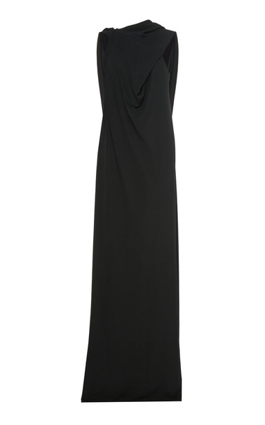 Narciso Rodriguez One-Shoulder Jersey Dress in green