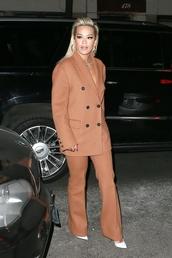 jacket,blazer,suit,rita ora,celebrity,pants,fall outfits