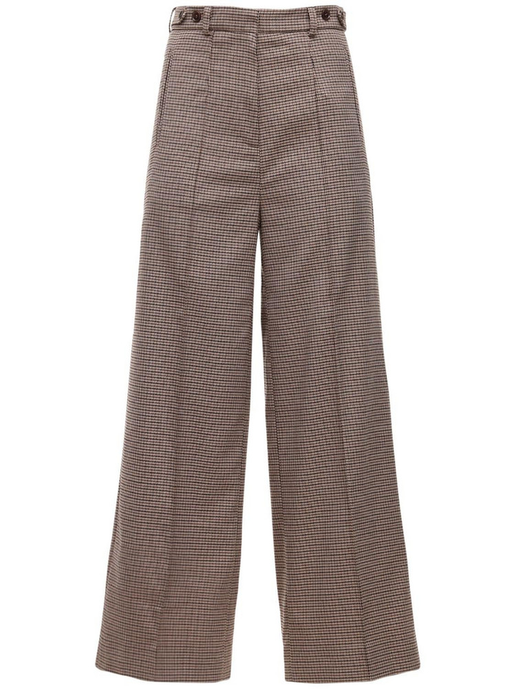 ROKH Oversize Wide Leg Pants in brown