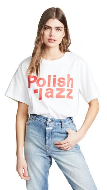M I S B H V Polish Jazz Tee in white