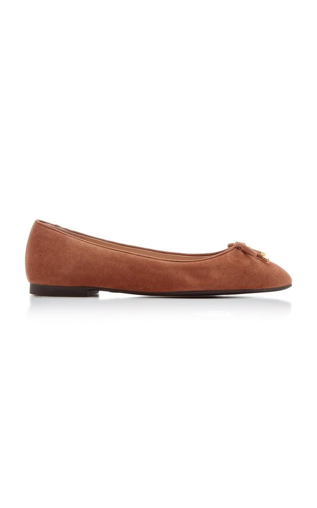 Stuart Weitzman Gabby Suede Ballet Flats in brown