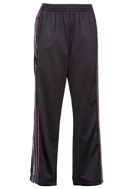 Balenciaga Stripe Tracksuit Pants in nero