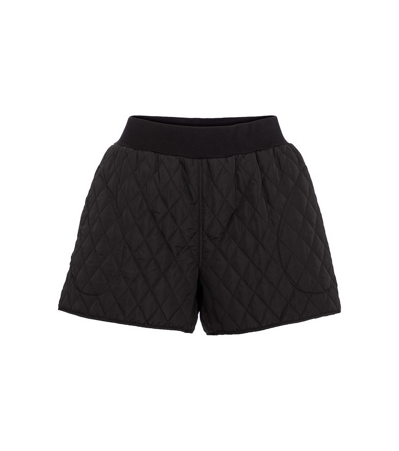 Norma Kamali High-rise quilted shorts in black
