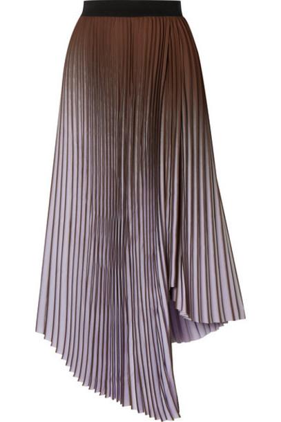 By Malene Birger - Piza Dégradé Plissé Crepe De Chine Midi Skirt - Lavender